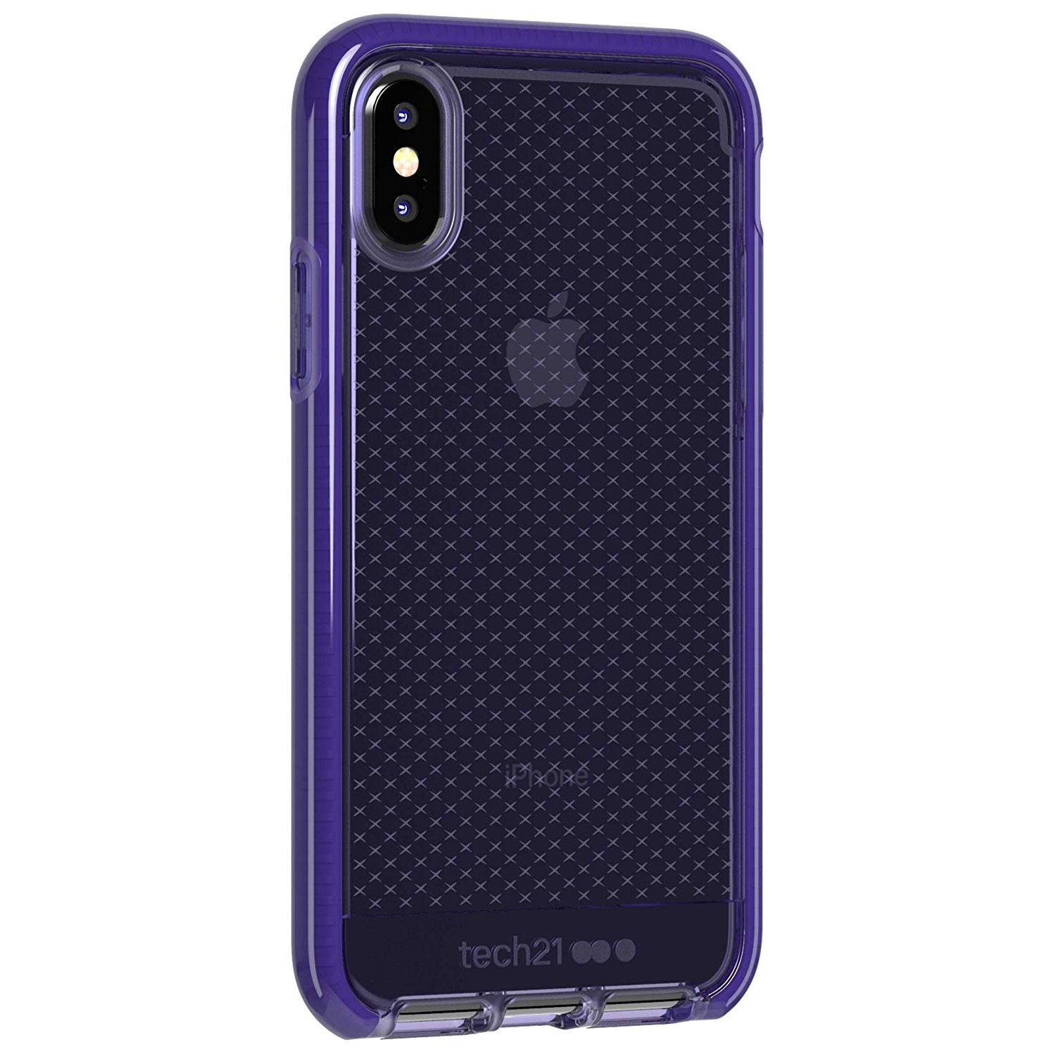 best sneakers 9f330 0d272 Tech21 Evo Check Case for iPhone X/Xs (Ultra Violet)