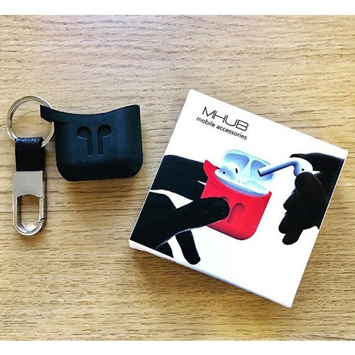 MHUB AIRPODS SILICONE CASE - BLACK