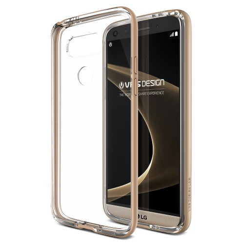 VRSDESIGN Cover for LG G5 / Crystal Bumper / Shine Gold