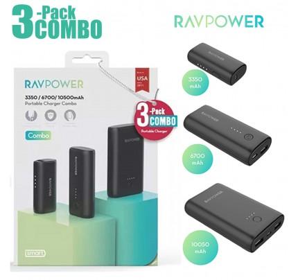 RAVPower / Power Bank / COMBO [3-Pack] Portable Charger (3350mAh+6700mAh+10050mAh) -Black