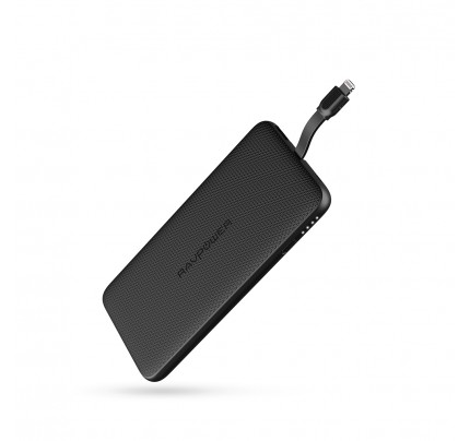 RAVPower / Power Bank / Blade 10000mAh Built-in Lightning Cable iSmart-Black