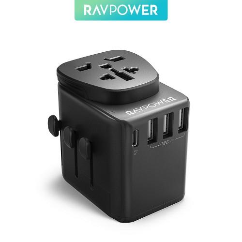 RAVPower / Travel Charger / Diplomat 30W 4-Port PD QC3.0-Black