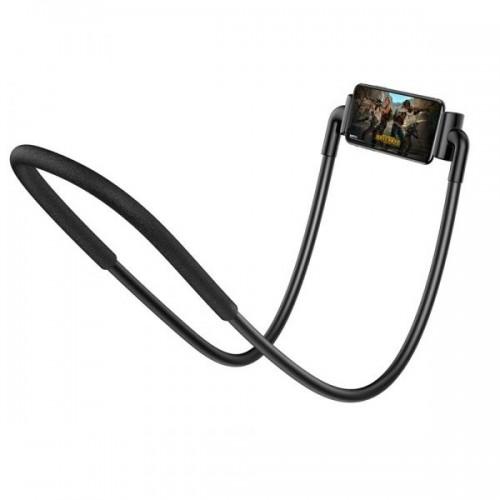 Baseus New Neck Mounted Lazy Bracket With Flexible Design Black