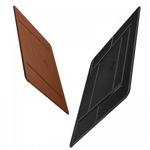 USAMS Laptop Leather Foldable Holder brown