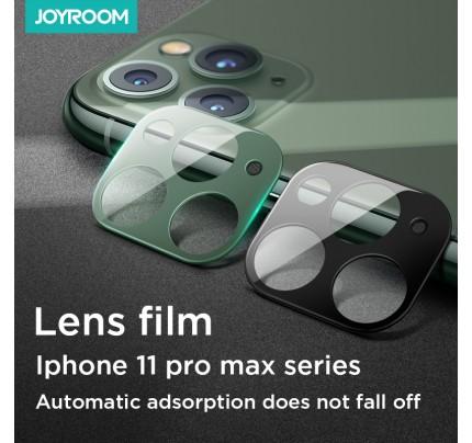joyroom mirror series lens protector metal version iphone 11 pro max/ 11 pro black