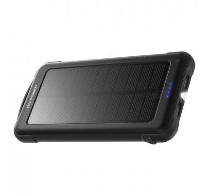RAVPower / Power Bank / Sun-Powered 10000mAh With Flashlight iSmart-Black