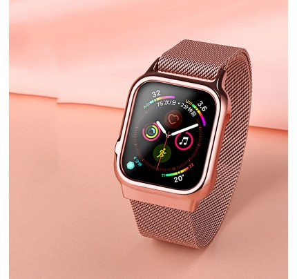 USAMS Apple watch 4 Magnetic Loop strap 44mm rose gold