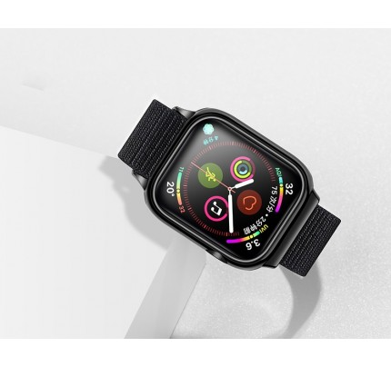 USAMS  Apple Watch 4 Nylon Loop Strap 44mm black