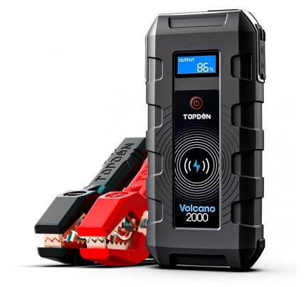 TOPDON Jump Starter Volcano2000 12V 2000A 20800mAh Wireless&USB Charging Black
