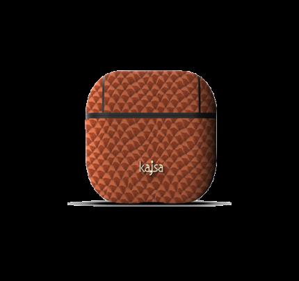 kajsa Jacket Genuine Leather Pearl Pattern AirPods Brown