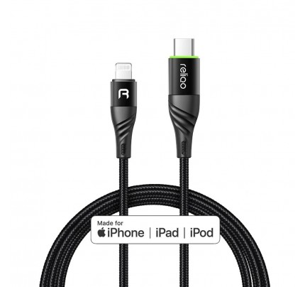 MCDODO Auto Power off MFI Type-C to Lightning PD data cable 1.2m black