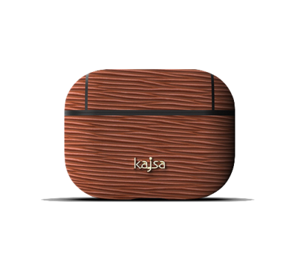 kajsa Jacket Genuine Leather Wave Pattern AirPods Pro Brown