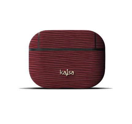 kajsa Jacket Genuine Leather Wave Pattern AirPods Pro Burgundy